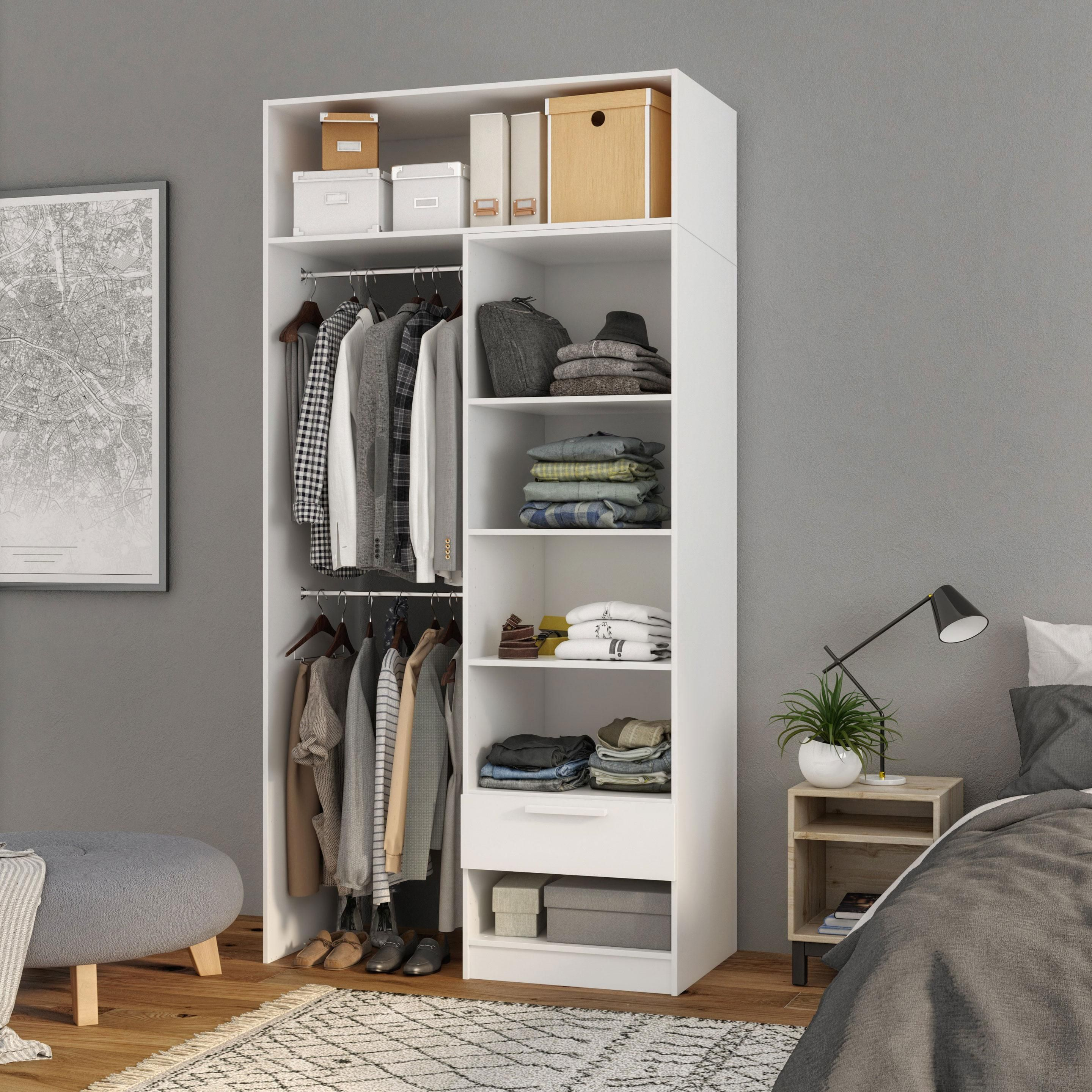 Dressing Blanc Spaceo Home H240 X L120 X P60 Cm