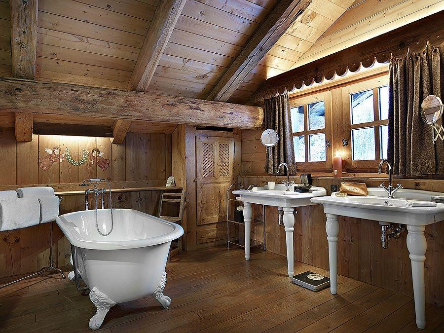 Bagno Montagna ~ Un bagno romantico e nostalgico mansarda chalet bathroom