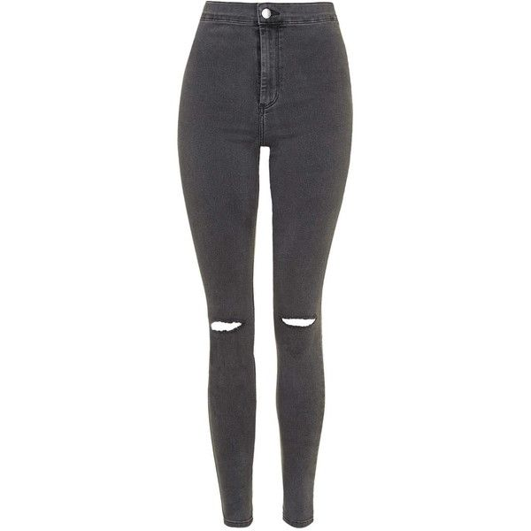 elegant shape timeless design special buy TopShop Moto Dark Grey Rip Joni Jeans (£38) ❤ liked on ...