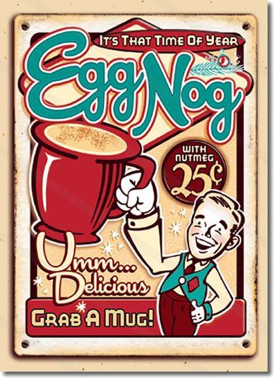 Egg Nog Christmas Cards Vintage Christmas Advertising Retro