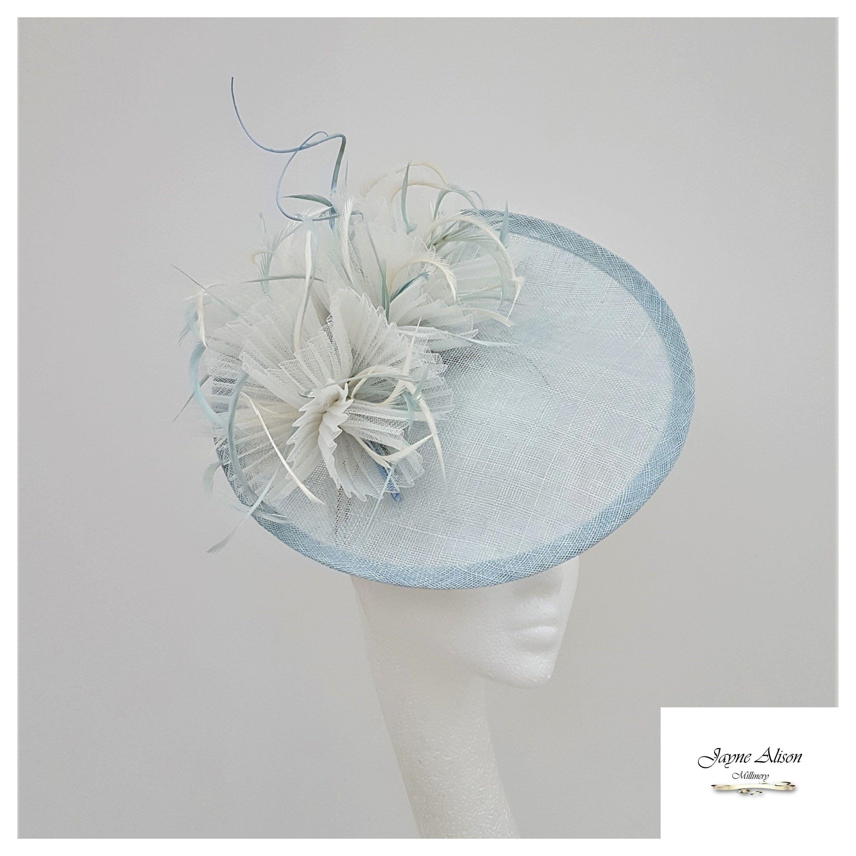 yellow crin fascinator headband headpiece wedding party race ascot bridal