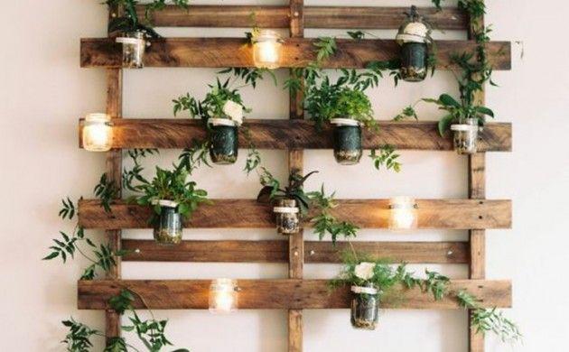 Wanddeko Garten vertikaler garten anleitung noch ein diy projekt aus paletten