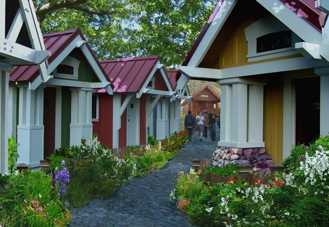 Would You Live In A Tiny House Village Tiny House Village Tiny House Community Tiny House Company