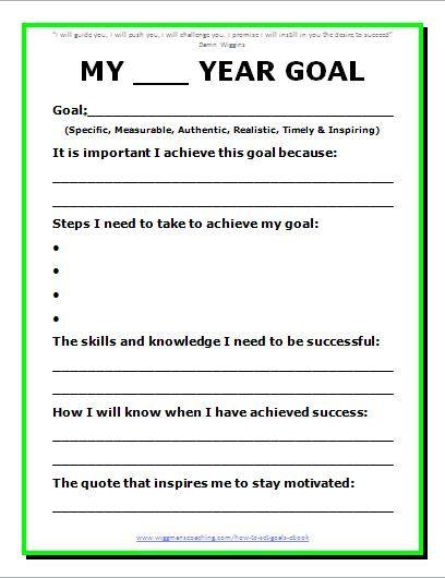 Setting Goals Worksheet For Students Goal Setting Worksheet ...