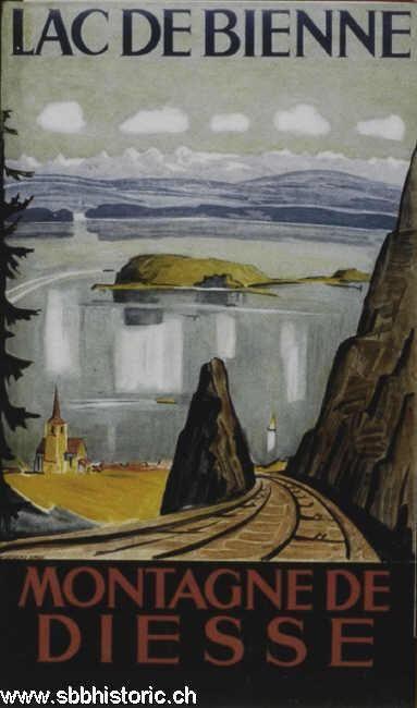 Montagne de Diesse. Lac de Bienne