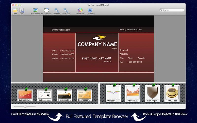 Mac App Biz Card Templates For Adobe Photoshop Card Templates Adobe Photoshop Elements Templates