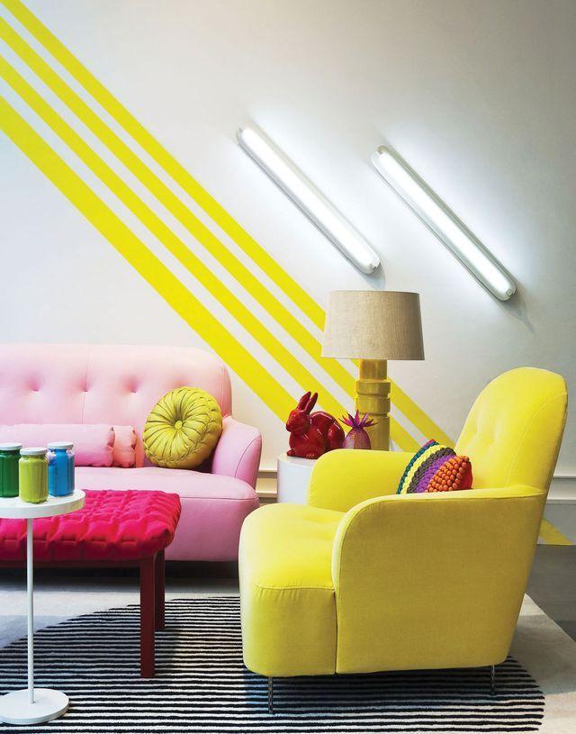 Peinture : des couleurs chaudes pour repeindre ses murs   Interiors ...