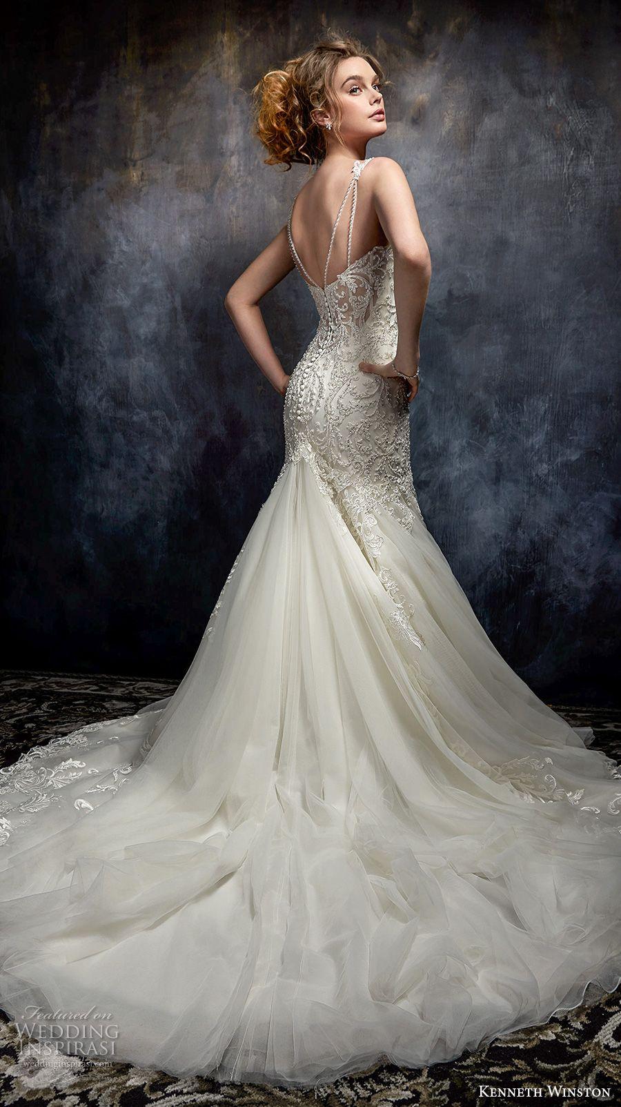 Elegant mermaid wedding dresses  Kenneth Winston Couture Wedding Dresses u Fall  Bridal