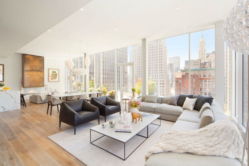 New York City Penthouse By B Interior Penthouse Interior Penthouse Living Living Room Design Modern Modern new york living room