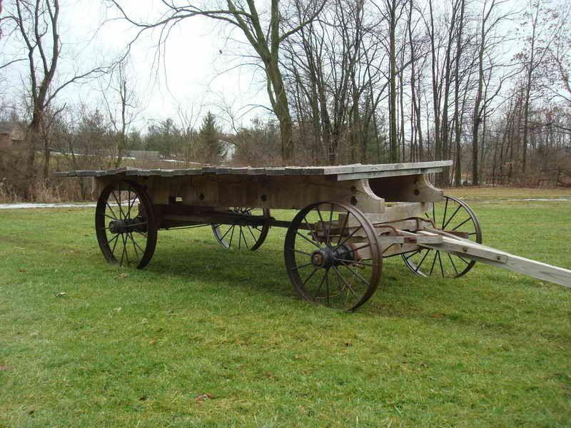 Oak Ih Hayrack On Steel Wheels For Sale Wagons Wheels