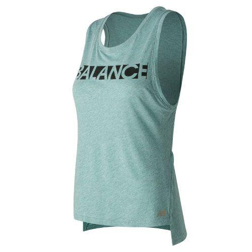 1114248d30d32 New Balance 71471 Women's Cotton Graphic Tank - Blue (WT71471SBT ...