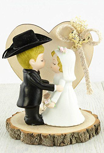 Western Cowboy Wedding Cake Topper >>> Find out more about the great product at the image link.