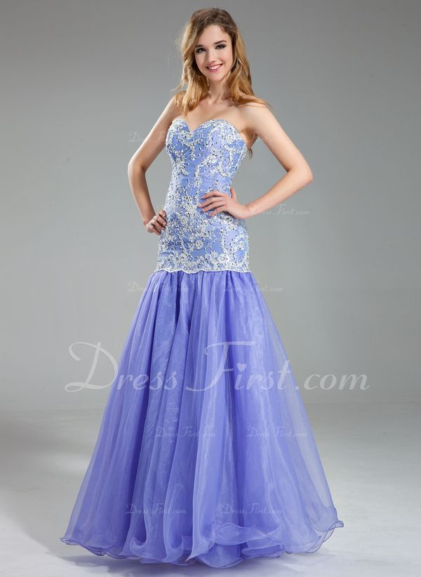 Purple Charmeuse Prom Dress