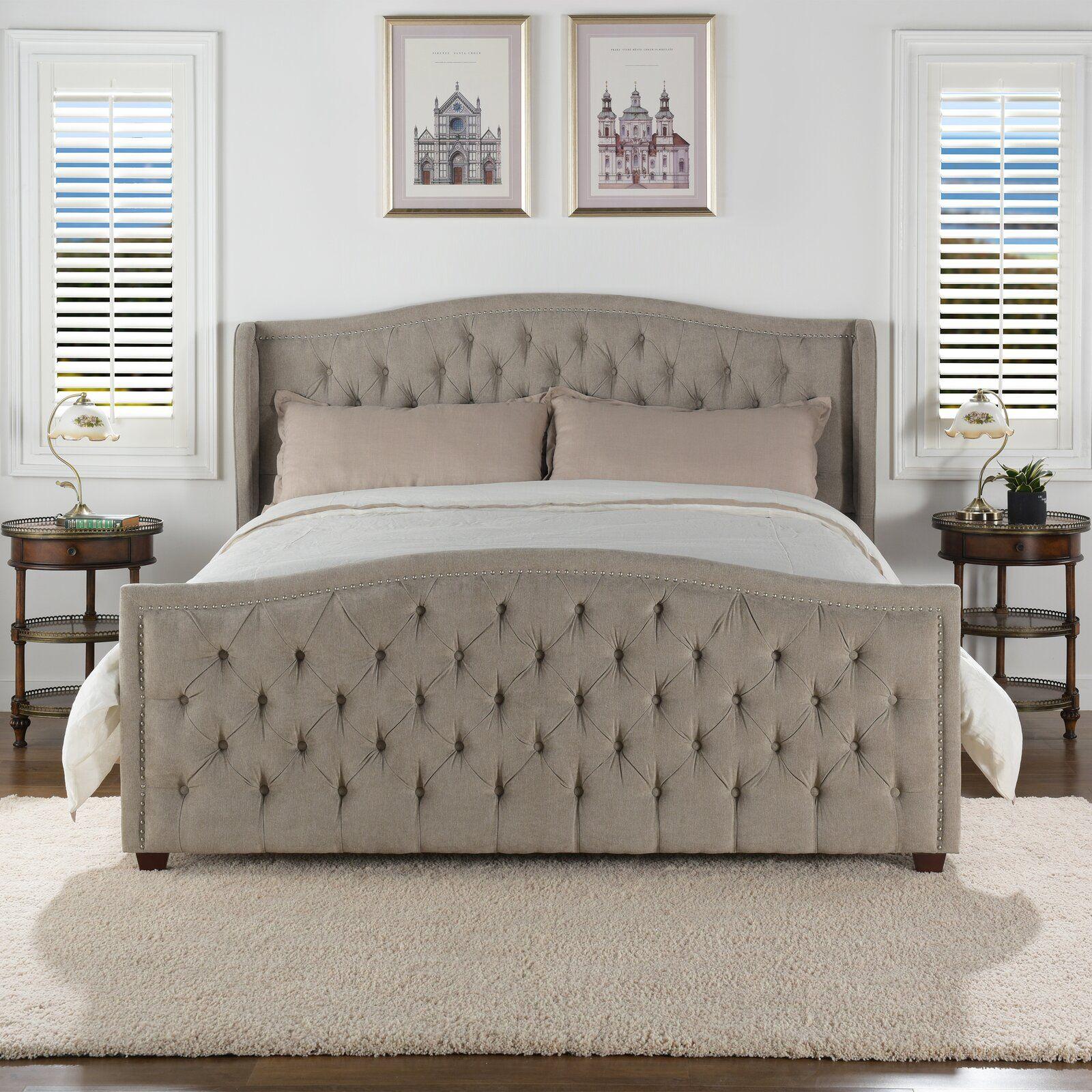 Newbury Upholstered Panel Bed Upholstered platform bed