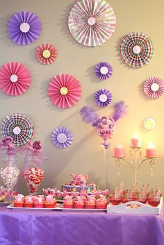 Put Mirrors Inside Paper Fans For Wall Decor