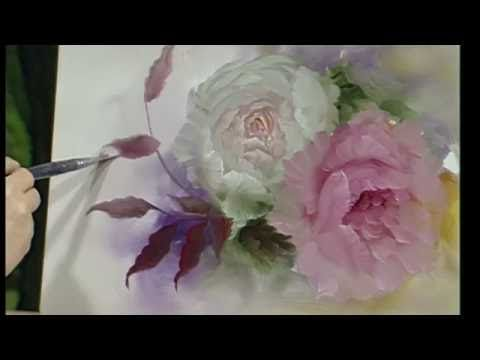 No2 Pink Rose Oil Painting Youtube