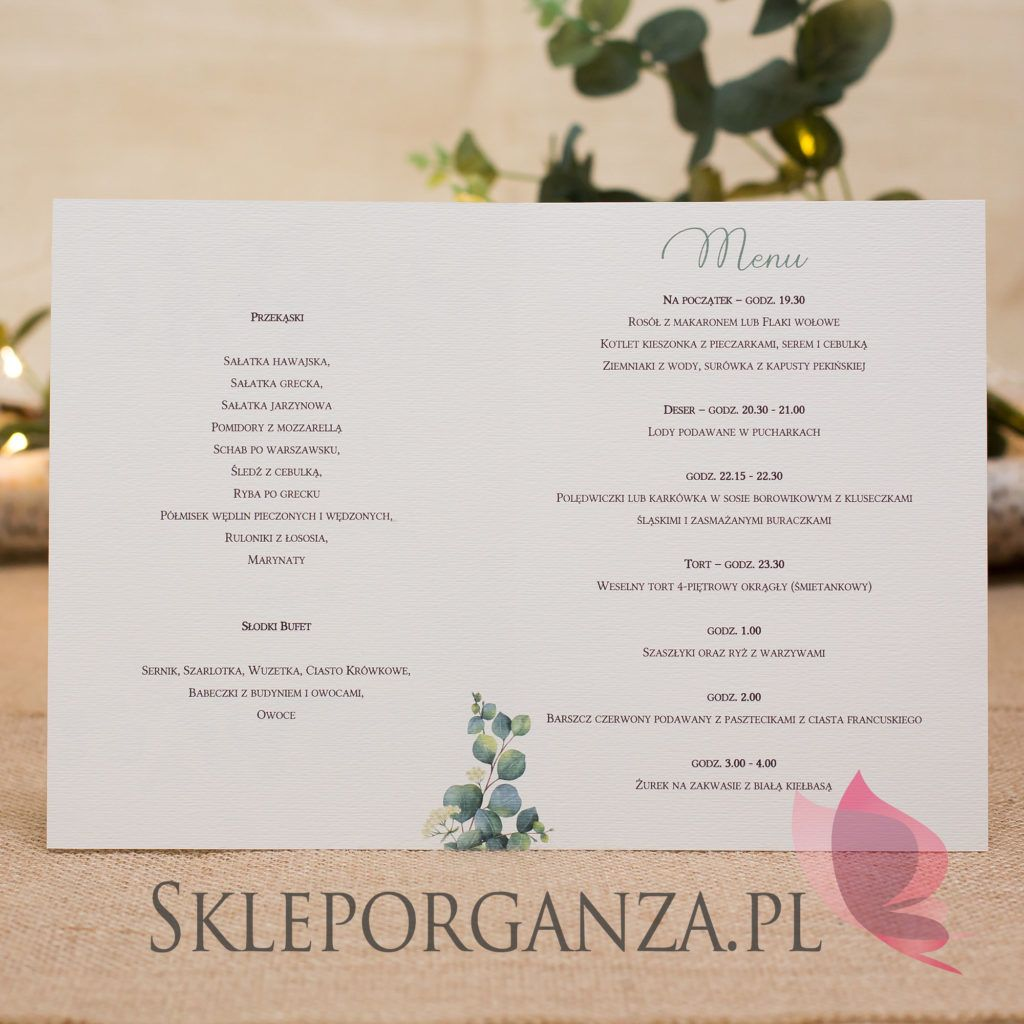 Kolekcja Slubna Eukaliptus Wedding Accessories Online Wedding