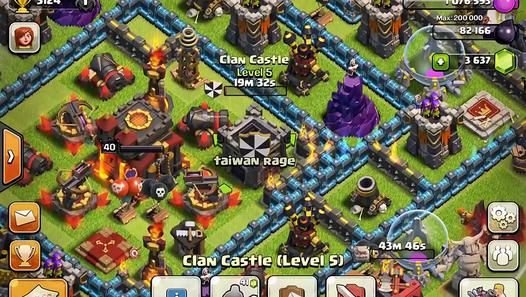 Clash of Clans My attack video 100 from the base like world