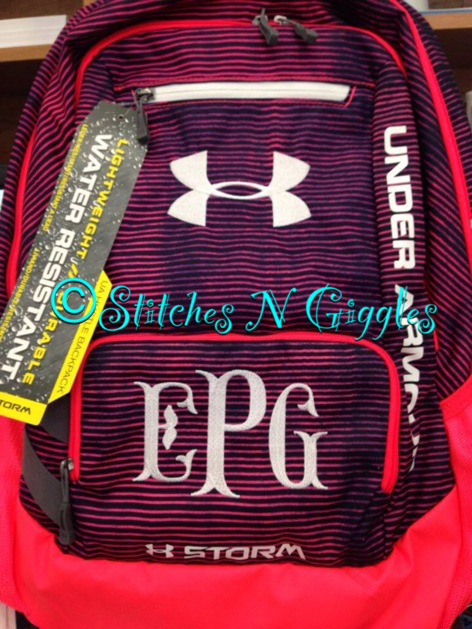 monogram book bag under armour purses and totes pinterest