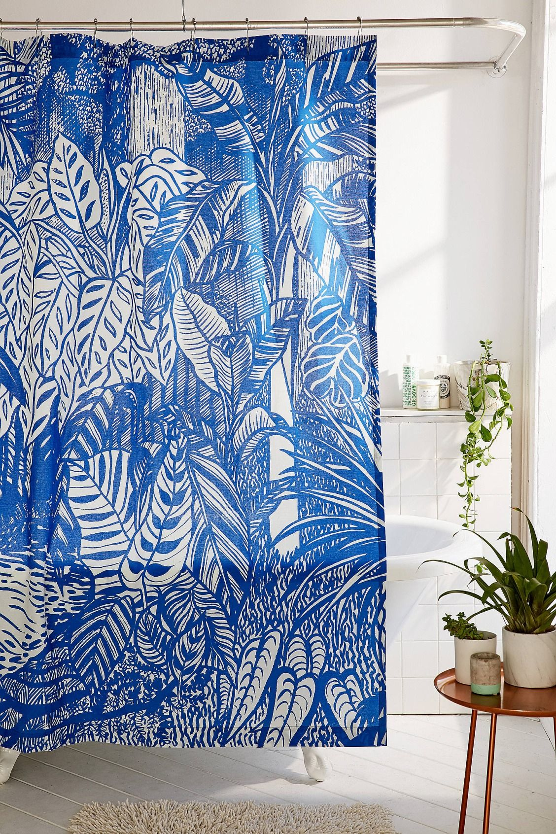 Saskia Pomeroy Plants Shower Curtain | Urban Outfitters | Home ...