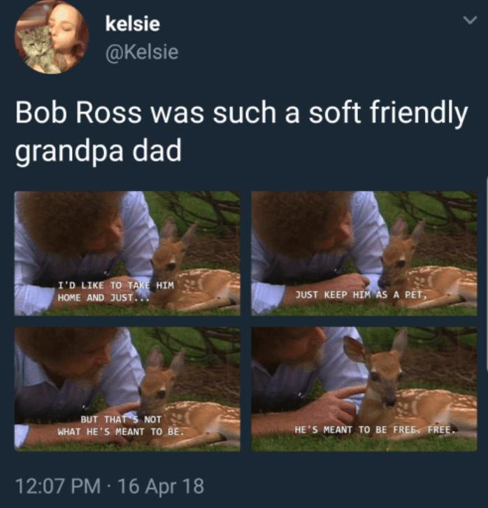 19 Mega-süße Bob Ross Meme, die dein Herz wärmen