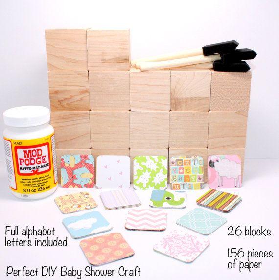 Diy Baby Shower Craft Alphabet Blocks Wood Blocks Baby Blocks Baby Girl Nursery Baby Shower Decor Baby Shower Crafts Baby Shower Diy Diy Baby Stuff