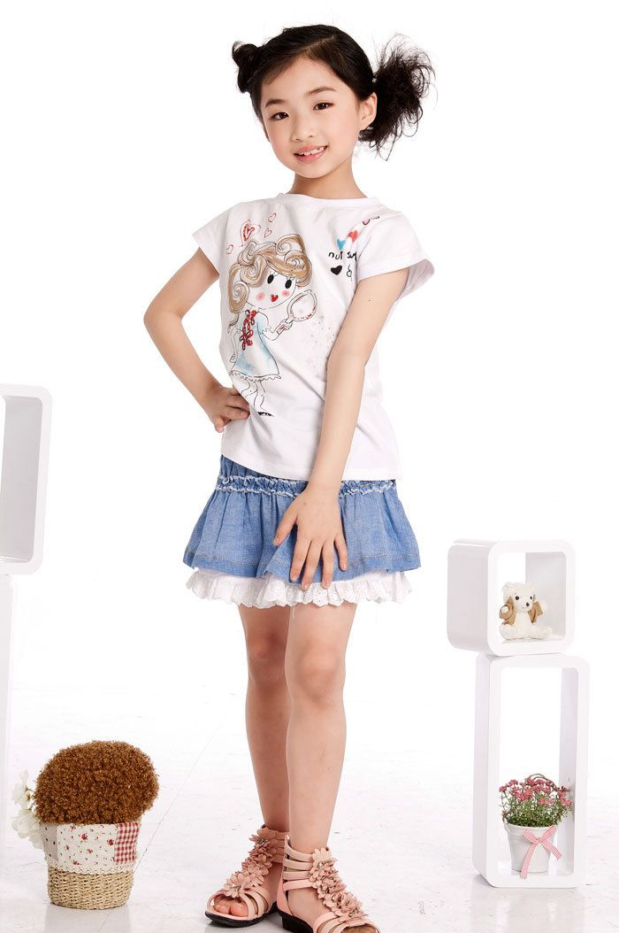 Aliexpress.com : Buy Free Shipping Girls Cartoon Tshirts Children ...