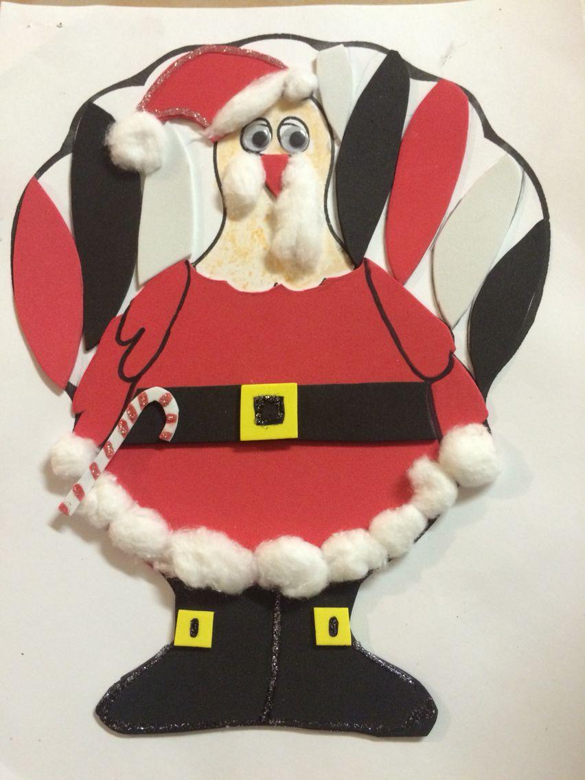 Pavo Disfrazado De Santa Pavos Disfrazados Pavo Disfrazado