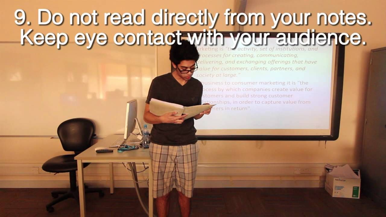 A short simple video of Bad and Good examples of ...