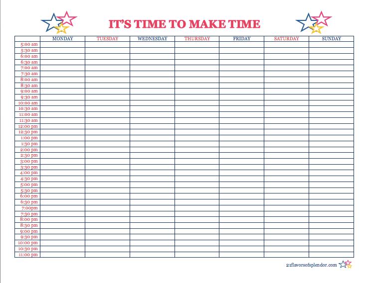 Image Result For Free Printable Time Blocking Time Blocking Planner Time Blocking Printable Time Blocking