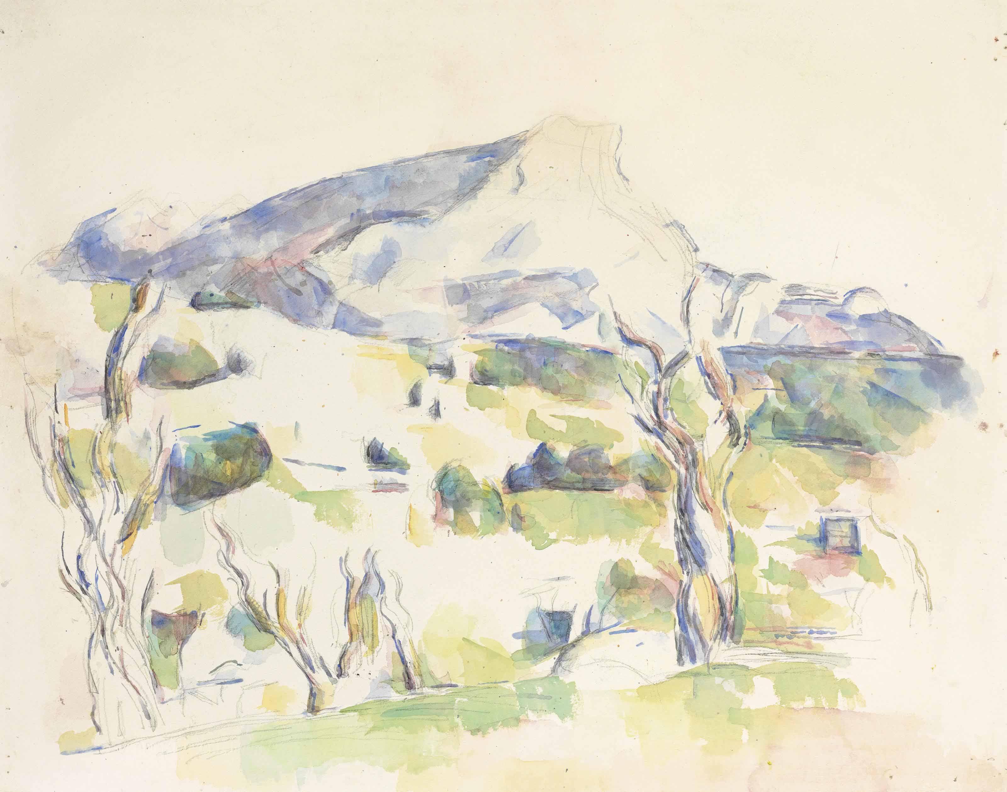 Paul Cezanne 1839 1906 La Montagne Sainte Victoire Vue Des
