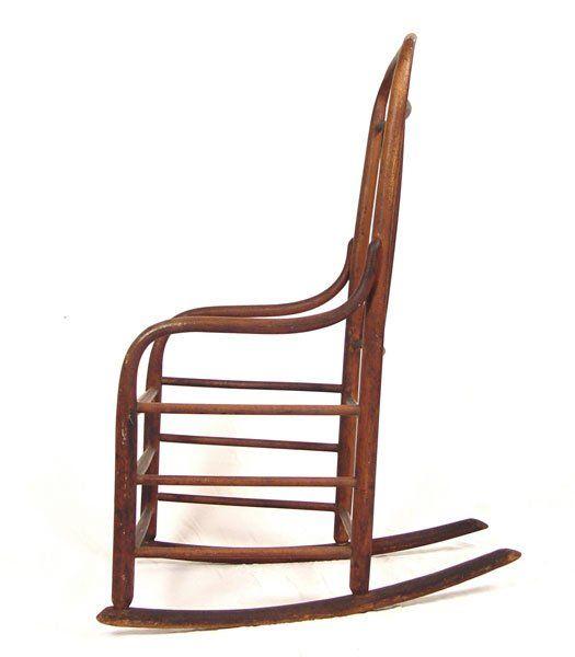 Tremendous 238A C 1840 Shaker Bentwood Rocker Mt Lebanon Design Spiritservingveterans Wood Chair Design Ideas Spiritservingveteransorg