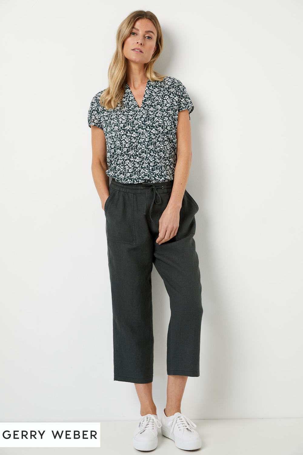 3/4 hose aus leinen in 2020 | outfit, outfit inspirationen