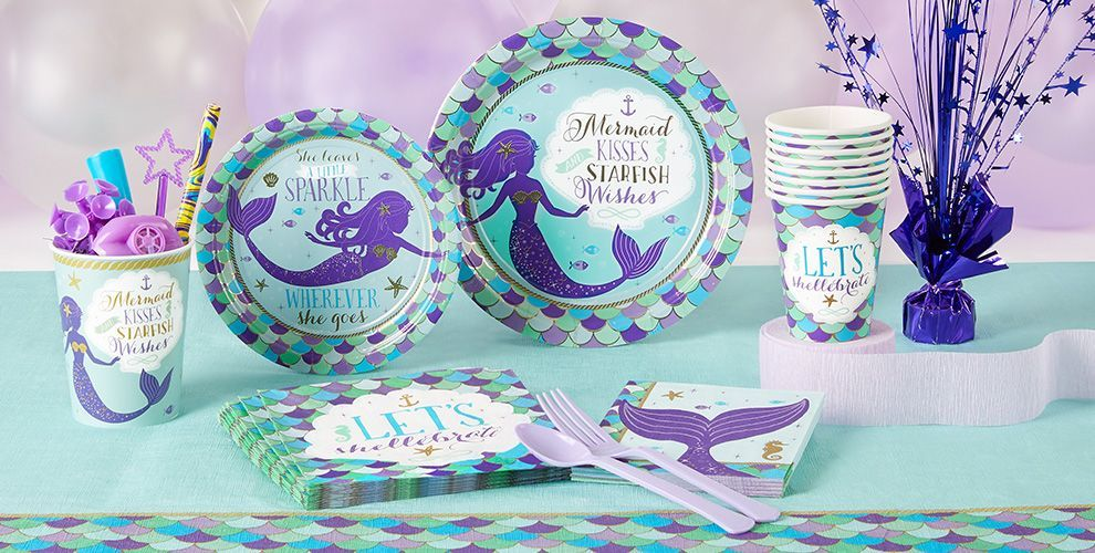 Party City has a bunch of Mermaid stuff , wrong theme but