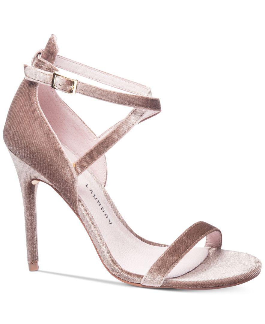 Chinese Laundry Lavelle Heels - Velvet Heels - High Heel