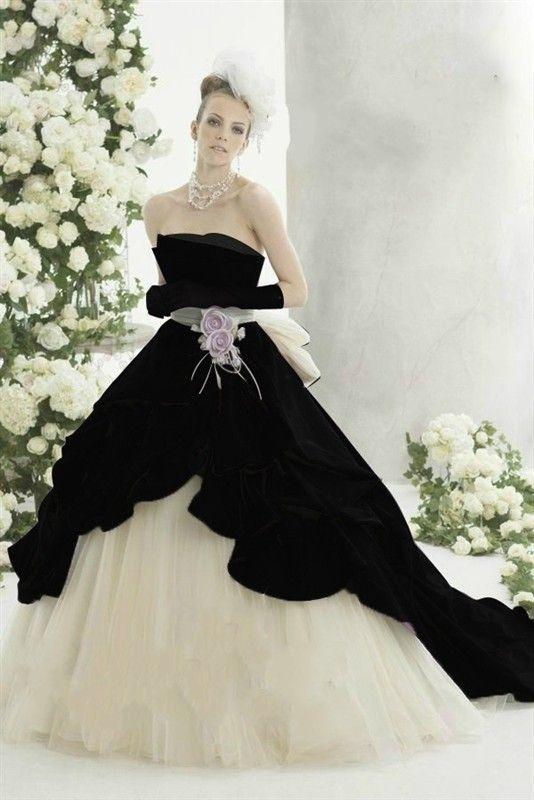 2017 white and black wedding dresses 2017 falll robe de mariage elegant gothic wedding dresses bridal