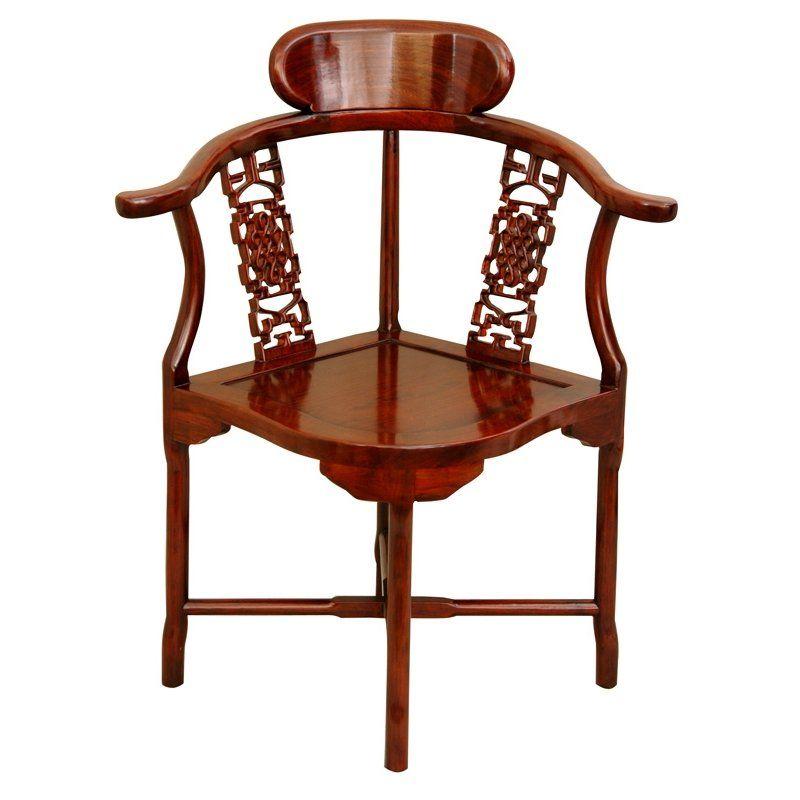 Corner armchair oriental furniture elegant chair