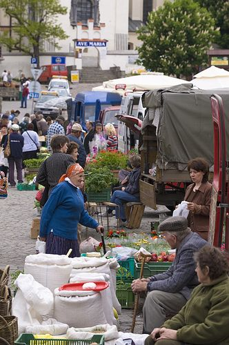 Farmer market on Marketplace, Kazimierz Dolny, Poland