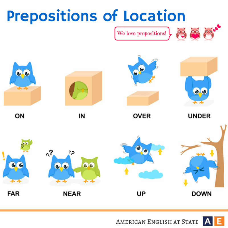 American English at State | English | Pinterest | Prepositions ...