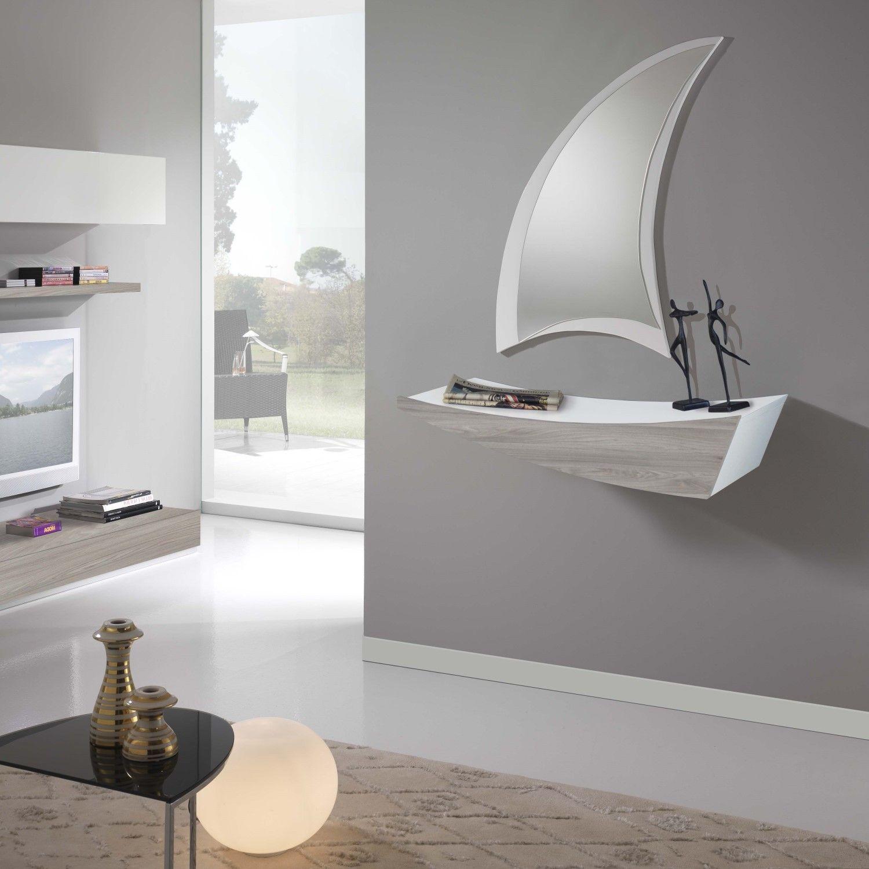 Mobile da ingresso con mensola e cassetto boat idee per for Arredo entrata casa