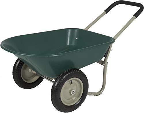 New Best Choice Products Dual Wheel Home Wheelbarrow Yard Garden Cart Online Toplikeclothes In 2020 Wheelbarrow Garden Wheelbarrow Garden Cart