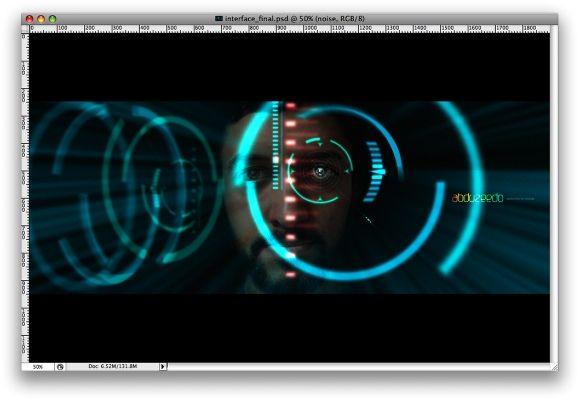 Iron Man View Interface Effect In Photoshop フォトショップ チュートリアル 映画