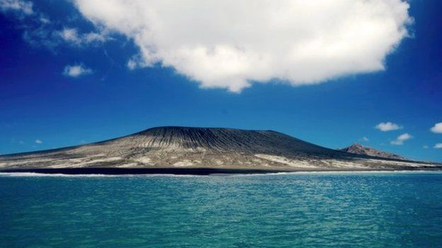 A volcanic eruption in Tonga in January leads to the creation of a new island in the Pacific, some 500m across and 250m high.