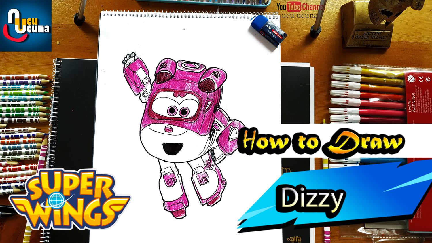 Super Wings Dizzy Draw And Paint Step By Step For Kidshi Friends How To Draw Dizzy How To Paint Dizzy Stey By Step Tutorial From Supe Kanatlar Cizim Youtube