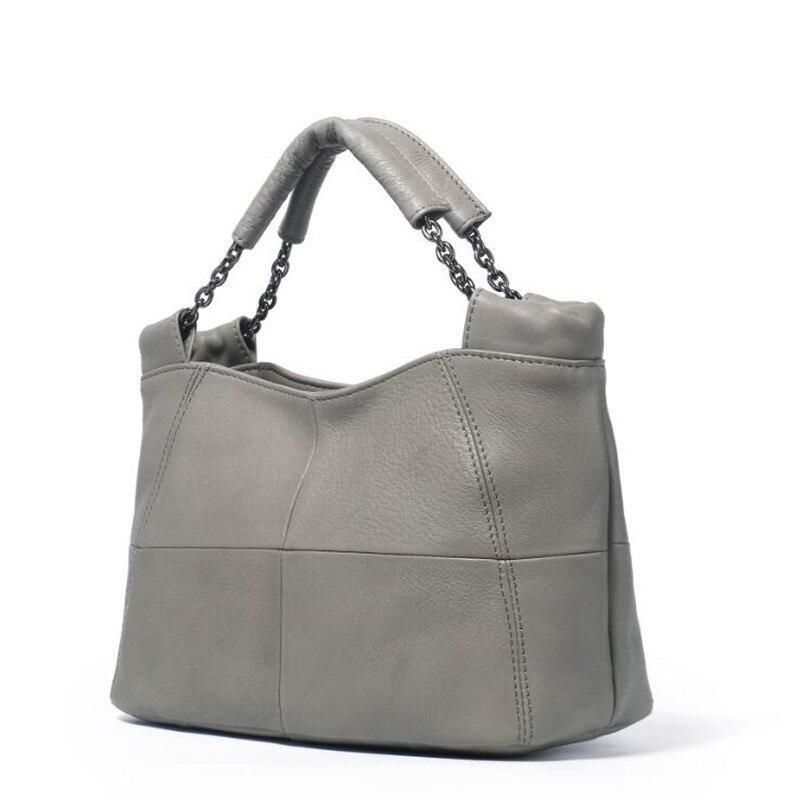 Women Genuine Leather Handbag Shoulder Bag Hobo Tote Purse Colorful Bucket Bags