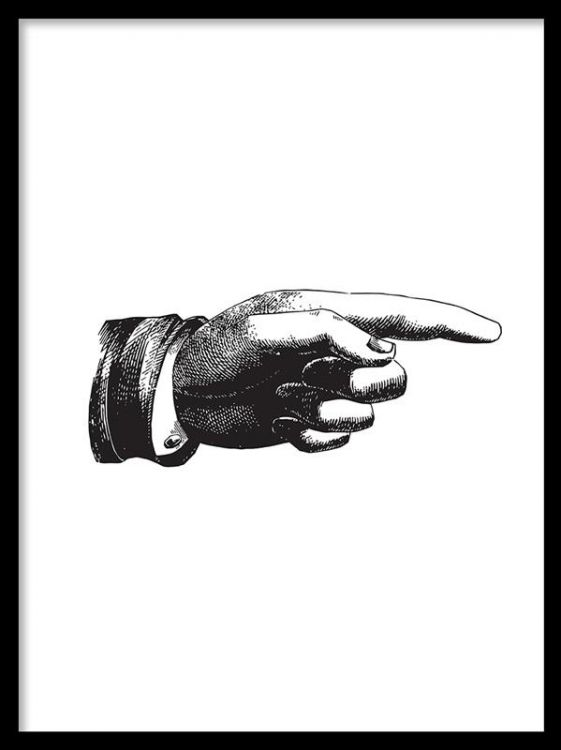 Affisch svart vit
