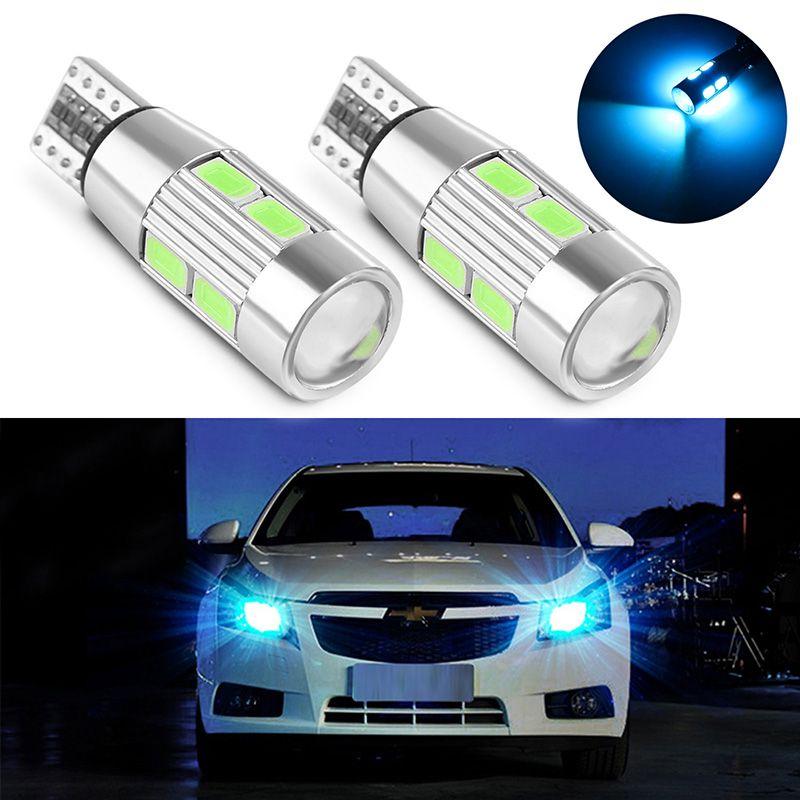 2 Pcs Car Led Headlight Bulb T10 194 W5w Canbus 10 Smd 5630 Car Lights Car Car Led