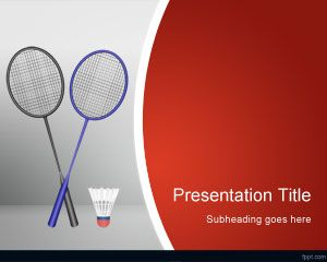 Badminton powerpoint template is a free powerpoint template for badminton powerpoint template is a free powerpoint template for olympics presentations that you can download for toneelgroepblik Gallery