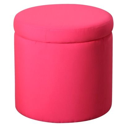 Marvelous Round Storage Ottoman Pink Target Its Soo Bright For Ocoug Best Dining Table And Chair Ideas Images Ocougorg