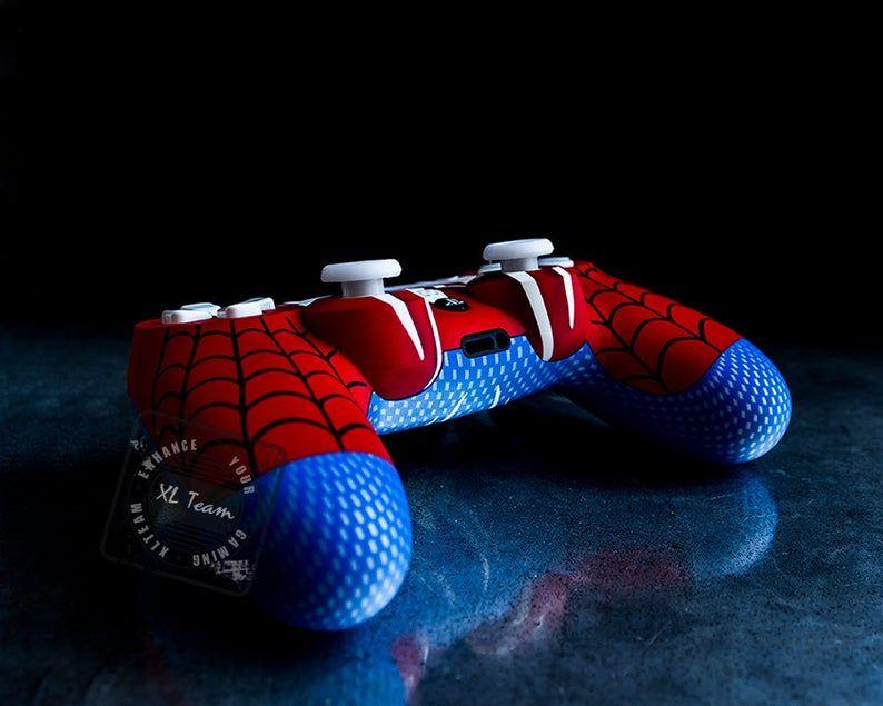 Custom Spiderman Themed PlayStation 4 PS4 DualShock 4 ...